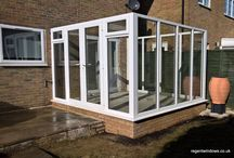 Churchdown 2016 / uPVC White Conservatory with glass roof and manual roof vent