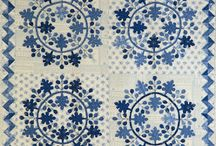 Blue white quilts