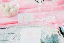 Wedding invitations and paper / wedding Invitations, Illustration & Calligraphy, menu, name tag