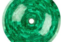 Malachite / The stunning stripes of this semi-precious stone have a most elegant, rich and vibrant colour, Malachite is said to absorb negative energies and to contain healing properties