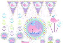 Preppy Whale pink  Party Ideas Decorations