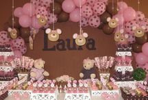 Party Ideas - Pink & Brown