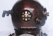 Diving Helmet / Marine Deep Sea Divers Diving Helmet.