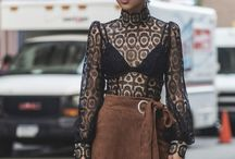 Street style / Fashion taken from the runways and translated into real life.