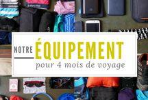 Voyager bien équipé / L'équipement est un point primordial de tous voyage ! Que ce soit pour le camping ou l'habillement, retrouvez-ici tous nos conseils sur le sujet.