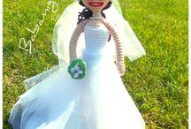 Crochet wedding dolls / what I made for their wedding :)