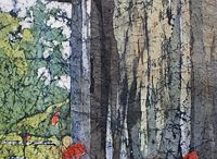 батик, декор ткани,роспись ткани