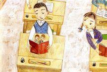 Ilustración escolar