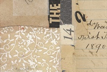 collage inspiration / vintage and modern collaging layering inspiraiton / by Katie Pertiet