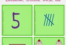 Zahlen, Buchstaben und Farben