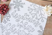 Christmas coloring pages project
