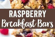 Raspberries breakfast bars