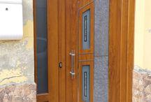 Puertas Modernas NATURA / Paneles de puerta exterior en aluminio o pvc