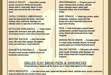 $10 Lunch Menu / Our fabulous $10 Lunch Menu - Select from a variety of pastas, salads or grilled flat bread pizzas and sandwiches. Includes free soft beverages.