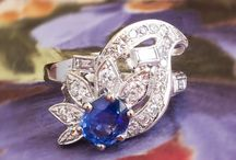 Sapphire Finds / One of a kind estate, vintage & antique sapphire jewelry from Jewelry Finds®!!!