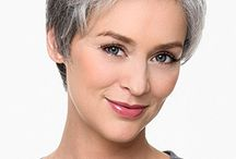 Grey hairstyle