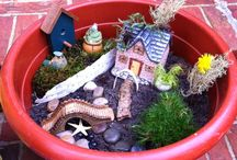 fairy gardens / my children and I want to set up one or a few... so, some ideas