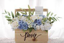 Blue Handmade Paper Flower