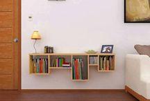 Βιβλιοθήκη για σαλόνι