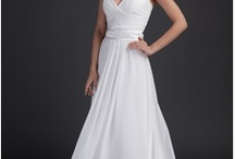 white&simple wedding dresses