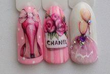 high heels nail art
