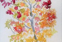 """""""Four Seasons"""" painting series: Autumn trees. Let your colours loose! / Come and learn to draw and paint from nature in my new series of online tutorials!  This season, we learn learn about colour. Come and mix those amazing Autumn colours and let's paint Autumn trees! My Skillshare class: http://skl.sh/2za4rBG"""