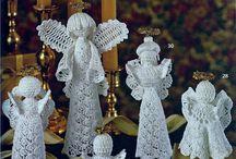 Andělé / Háčkování, Vánoce