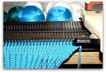 Knitting machine support
