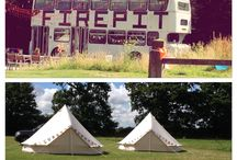 Festival campsite / The fire pit camp at Dereham in Norfolk is an amazing festival style campsite. Just perfect for hen/stag and wedding celebrations.