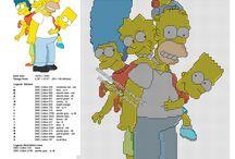 Schemi da ricamare punto croce I Simpson / Schemi da ricamare punto croce I Simpson