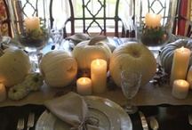 Thanksgiving / Thanksgiving table decorations, food inspiration