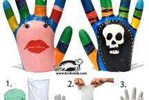 main plâtre pour porte bagues