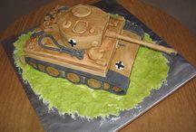 Tiger tank bday cake