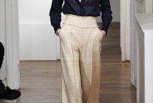 High-waisted trousers outfit / (aka palazzo trousers ) perfect with a handbag