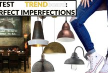"""TREND BOARD: Perfect Imperfections / Quality Lighting is often handmade and hand finished or has the look of an antique treasure. What gives that lived with and loved look? We love the latest trend for artisan looks we're calling """"perfect Imperfections'. This trends see's less pristine and more the imperfect surfaces. Perfect is not always perfect, the marks and honesty of a crafted piece shows time well spent creating these beautiful lights. There's an undeniable urge to own one of these perfectly imperfect lights."""