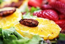 Salads ~ Organic Salads / Collection of organic salads, mixed greens, local produce.
