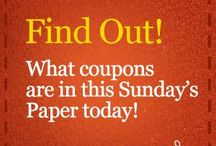 Savings and coupons / by Wanda Markland