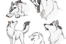 sarjakuva eläimet