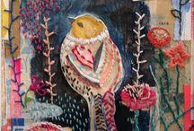 Couture avec oiseaux