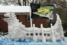 Blizzard Bling - Awesome Snow Sculptures That make a Snow Storm Amazing.