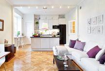 Kitchen + living room designs