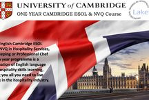 ONE YEAR CAMBRIDGE ESOL & NVQ Course / Our English Cambridge ESOL and one NVQ in Hospitality Services, Housekeeping or Professional Chef in a year programme is a combination of English language and hospitality skills learning, giving you all you need to live and work in the hospitality industry.