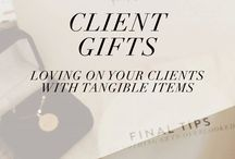 Wedding clients / Gift ideas for clients, wedding marketing ideas etc