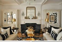 living room idea BLACK AND WHITE PLUS GOLD