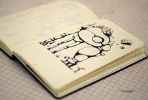 """Dino Voodoo / Dino voodoo, artiste indépendant et autodidacte né en France en 1975, exerce son métier de character designer et d'illustrateur depuis une quinzaine d'années.  Depuis l'enfance, Dino dessine une multitude de personnages plus asymétriques les uns que les autres. Son fidèle crayon, guidé par son cerveau en permanente ébullition, glisse frénétiquement sur les pages de son carnet """"Le Papier fait de la Résistance""""..."""
