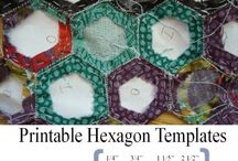 English hexies / English paper piecing patchwork