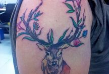 deer tattoo :) / made by Bikram Moktan from Mohan's Tattoo Inn, Kathmandu - Nepal ..