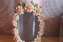 frascos decorados ceramica