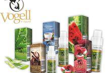 Liquidy Vogell / Prezentacja produktów marki Vogell - Liquidy do E-papierosów o różnych smakach i mocach zamknięte w małej buteleczce.