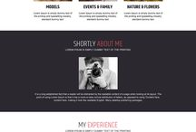 photography landing page design